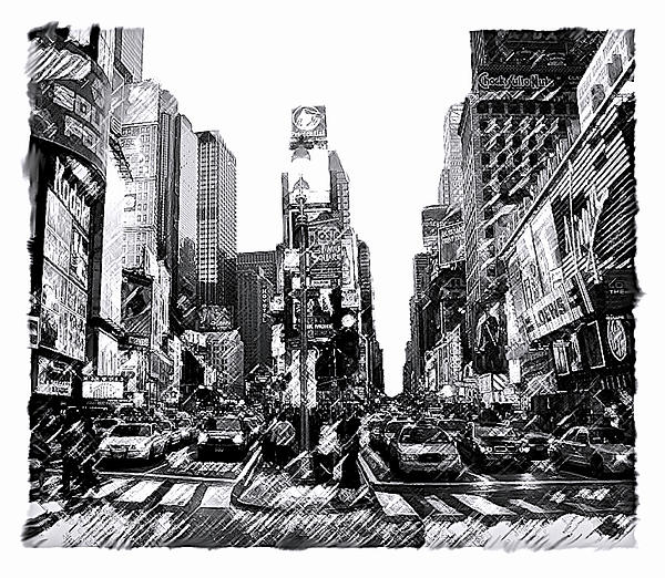 Times Square   New York City Print by Iconic Images Art Gallery David Pucciarelli