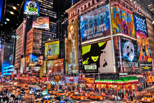 Times Square Print by Randy Aveille