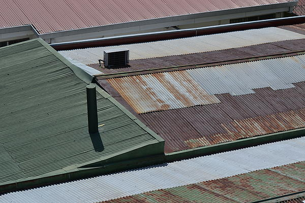 Tin Rooftops Of San Jose Print by Bill Mock