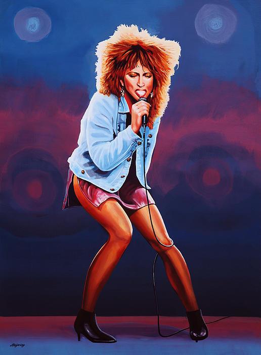 Tina Turner Print by Paul  Meijering