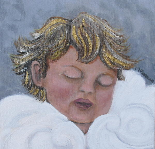 Tiny Angel Print by Melissa Torres