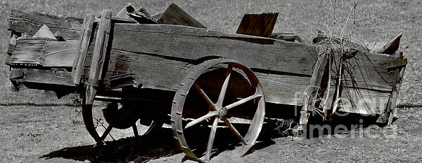 Tired Wagon Print by Cheryl Young