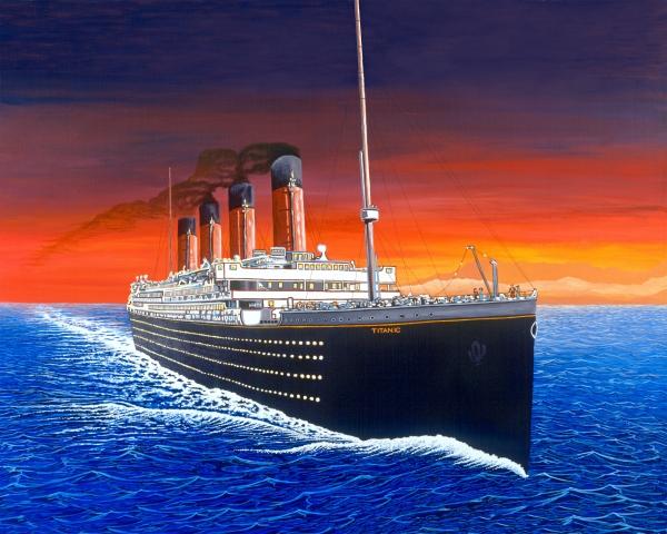 Titanic Print by David Linton