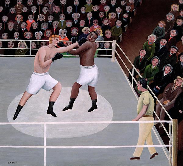 Title Fight Print by Jerzy Marek