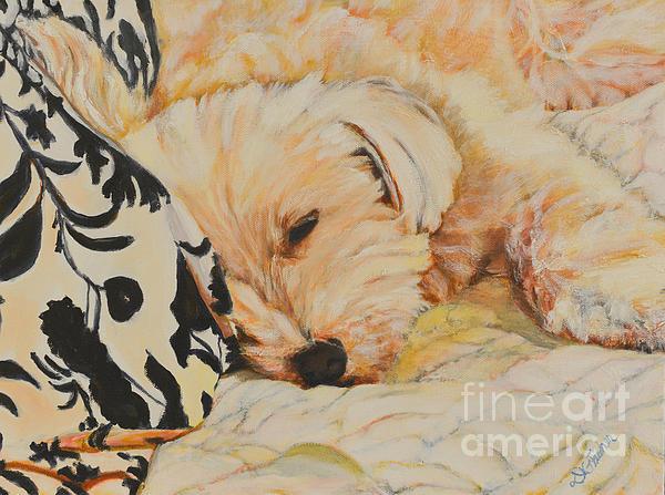 Tobi Sleepy Head Print by Deborah Fisher