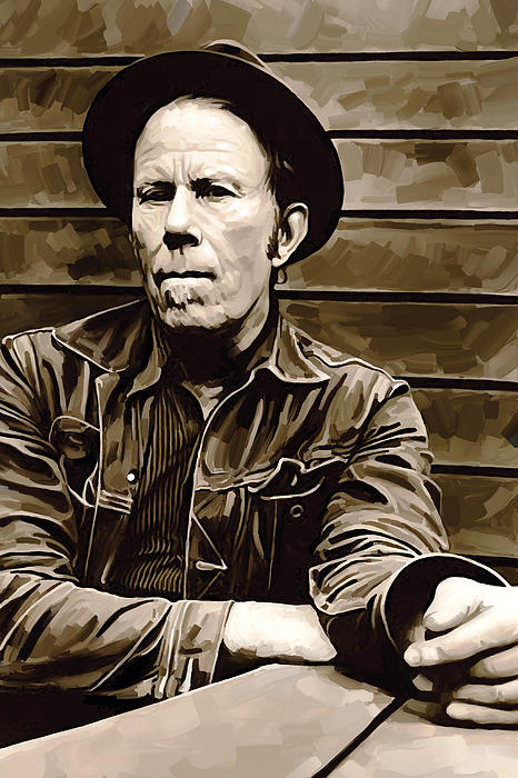 Tom Waits Artwork 2 Print by Sheraz A