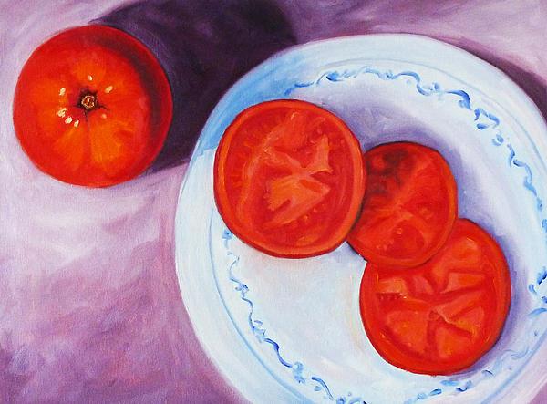 Tomato Print by Nancy Merkle