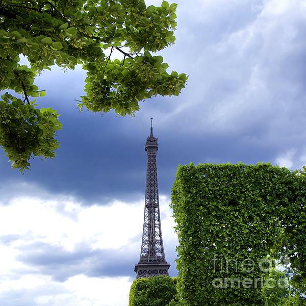 Top Of The Eiffel Tower. Paris. France. Print by Bernard Jaubert