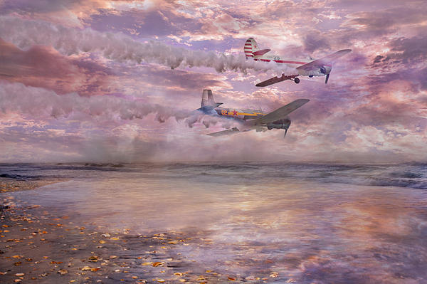 Topsail Flyers Print by Betsy A  Cutler
