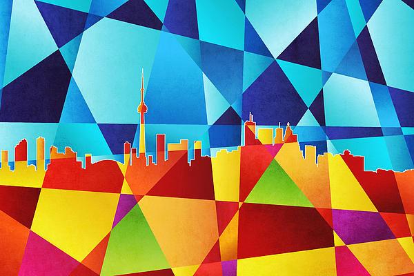 Toronto Canada Skyline Print by Michael Tompsett