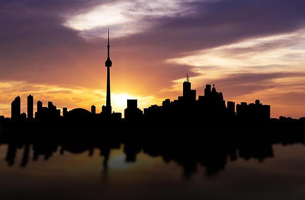 Toronto Canada Sunset Skyline Print by Aged Pixel