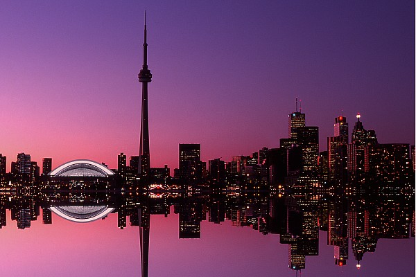 Toronto Skyline At Sunset, Toronto Print by Alan Marsh