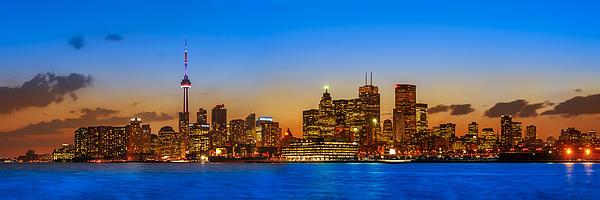 Toronto Skyline Panorama Print by Sebastian Musial