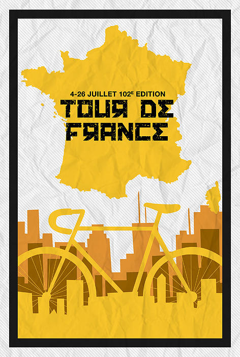 Tour De France 2015 Minimalist Poster by Celestial Images