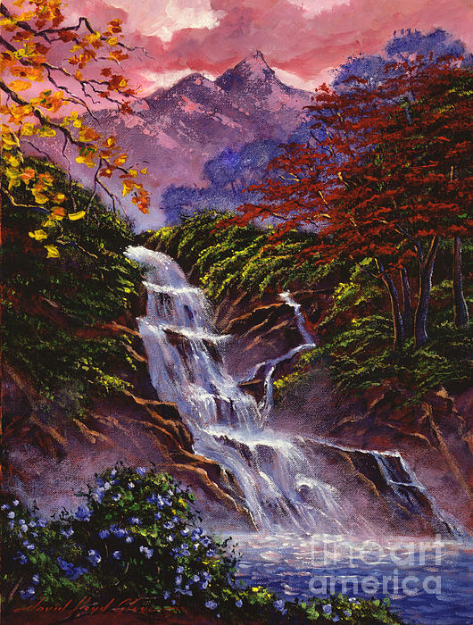 Towers Of Mist Print by David Lloyd Glover