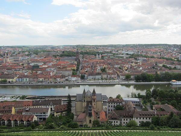 Town Of Wurzburg Print by Pema Hou