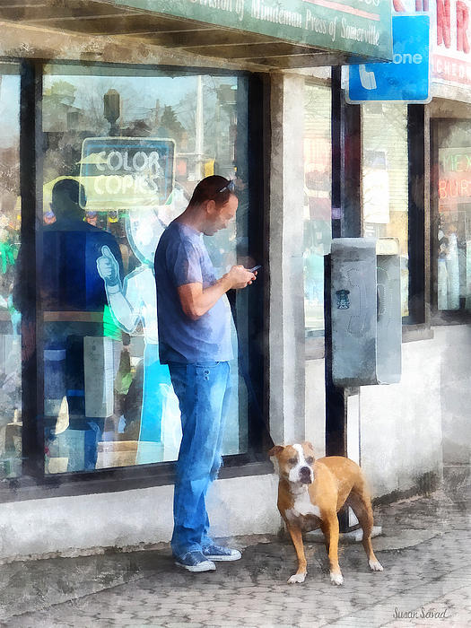 Towns - Pay Phone Print by Susan Savad