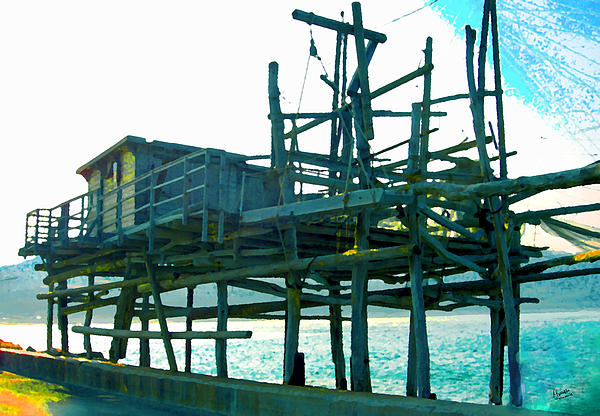 Trabocco 3 - Fishermen Stuff Print by Marcello Cicchini