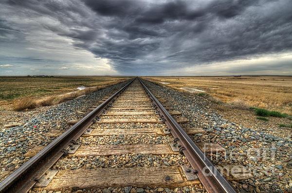 Tracks Across The Land Print by Bob Christopher