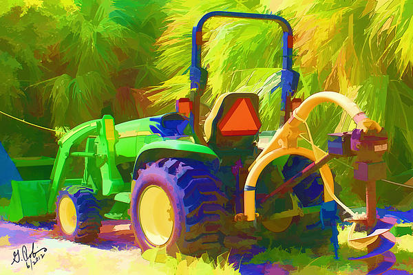 Tractor Print by Gerry Robins
