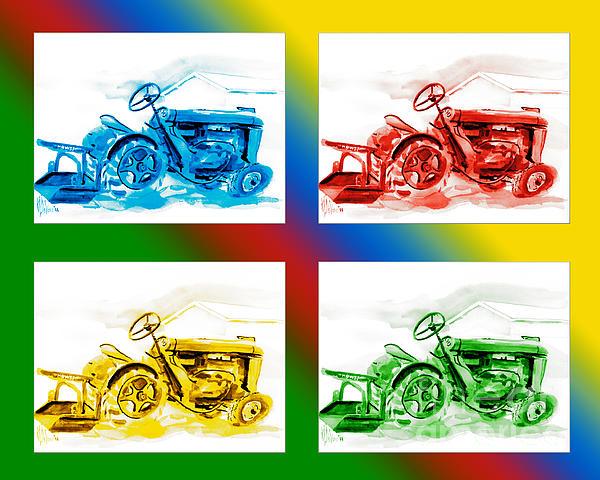 Tractor Mania II Print by Kip DeVore