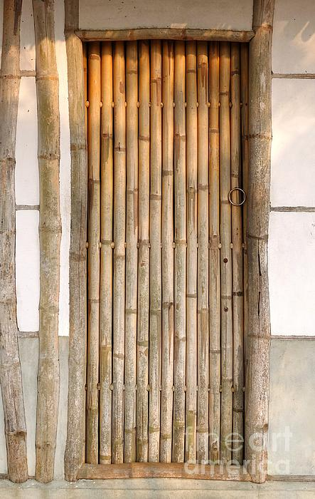 Traditional Chinese House With Bamboo Door Print by Yali Shi