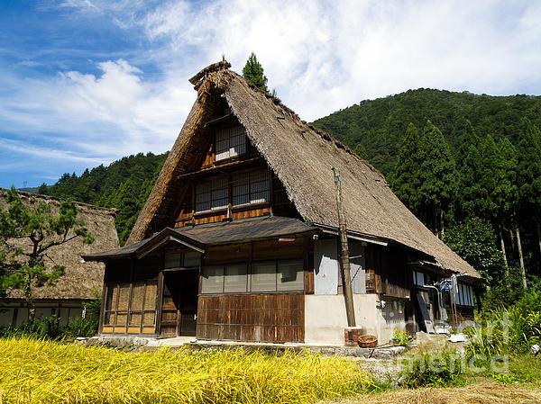 Traditional Gassho-zukuri Style House In Suganuma Village - Gokayama - Japan Print by Chieko Shimado