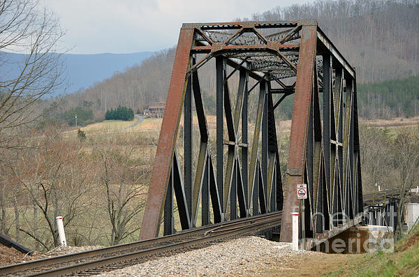 Train Bridge Print by Brenda Dorman