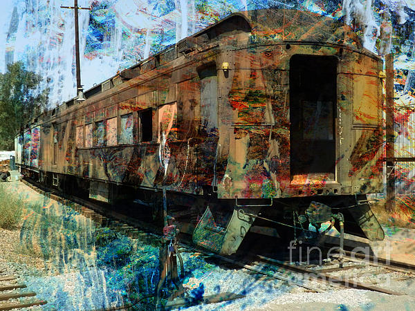 Train Cars Print by Robert Ball