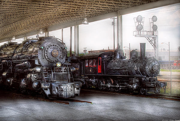 Train - Engine - 1218 - End Of The Line  Print by Mike Savad
