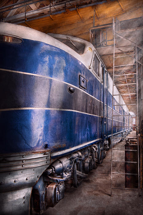 Train - The Maintenance Facility  Print by Mike Savad