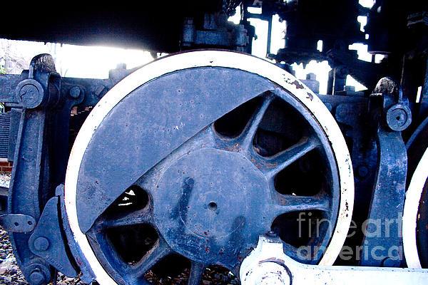 Train Wheel Print by Thomas Marchessault