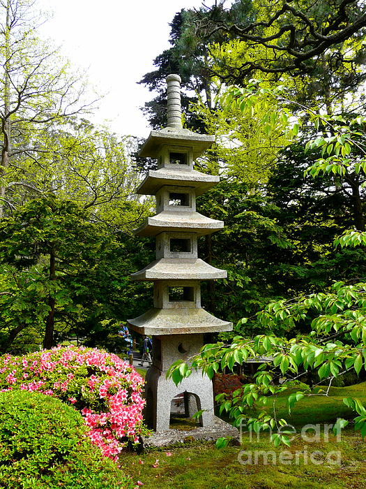 Tranquil Japanese Garden Print by Avis  Noelle