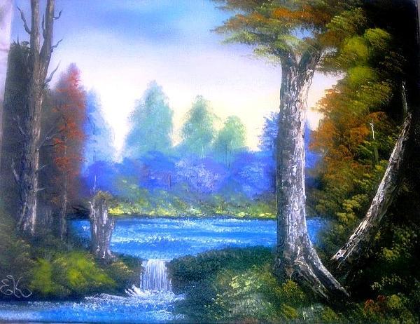 Tranquil Lake Print by Fineartist Ellen