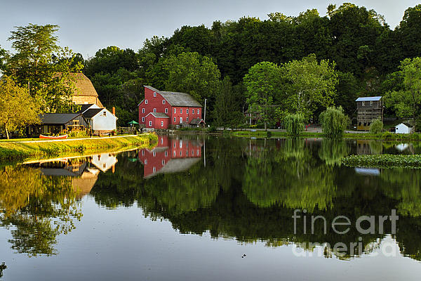 Tranquil River Reflections Print by George Oze