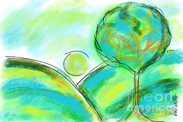 Tranquil Tree No1 Print by Mary C Wells
