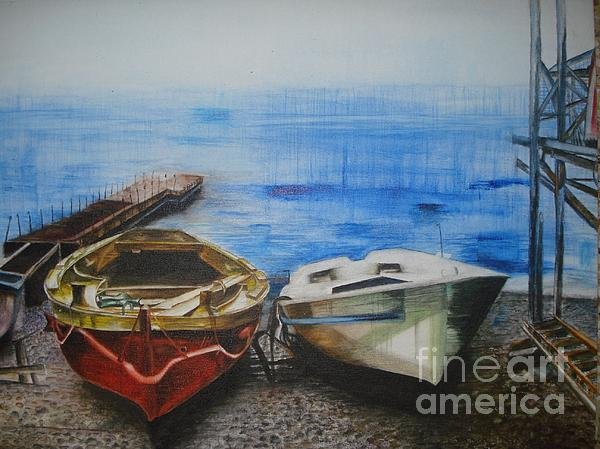 Tranquility Till Tide From The Farewell Songs Print by Prasenjit Dhar