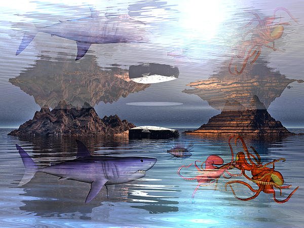 Translucent Interactions Print by Betsy C  Knapp