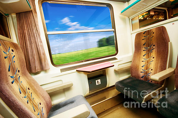 Travel In Comfortable Train. Print by Michal Bednarek