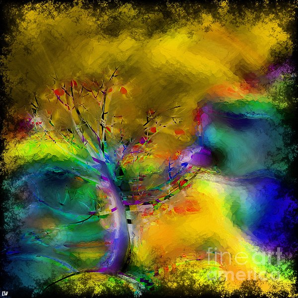 Tree Abstract - Bold Is Beautiful Print by Liane Wright