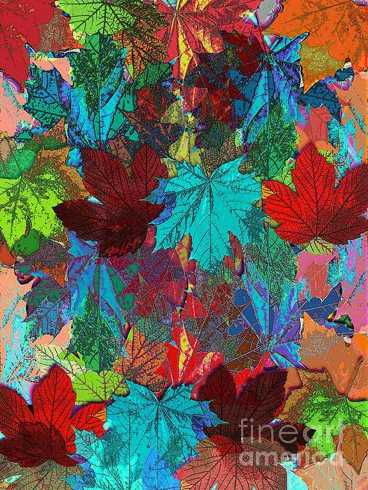 Tree Leaves Print by Klara Acel