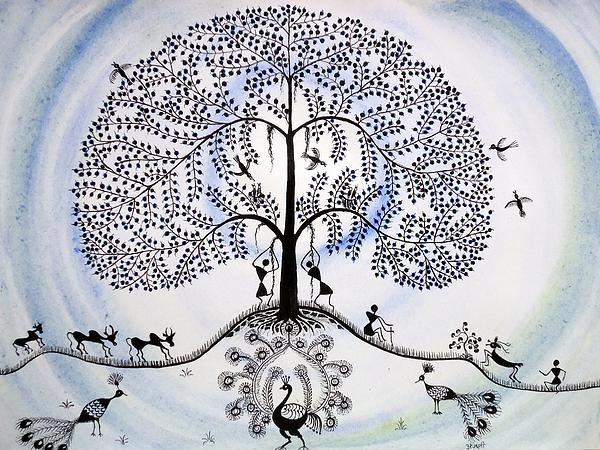 Tree Of Life Print by Anjali Vaidya