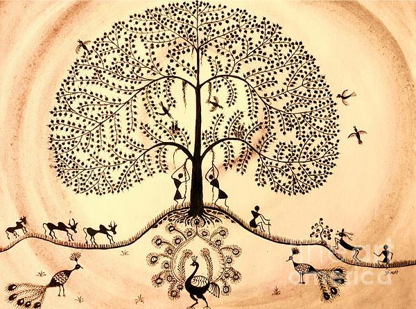 Tree Of Life II Print by Anjali Vaidya