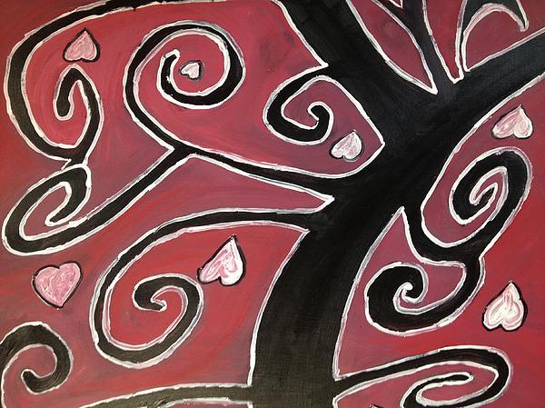 Tree Of Love Print by Paula Brown