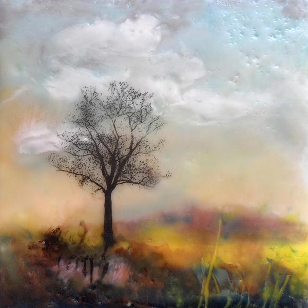 Tree Tile No. 5 Print by Victoria Primicias