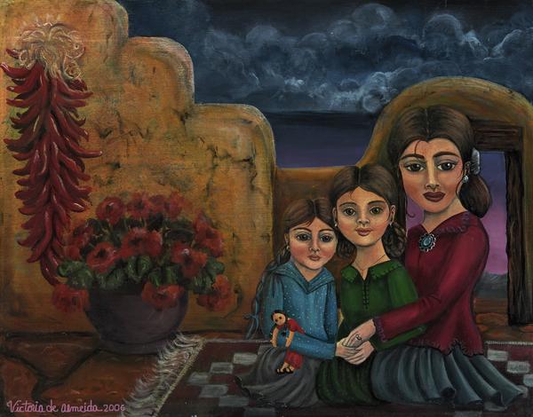 Tres Mujeres Three Women Print by Victoria De Almeida