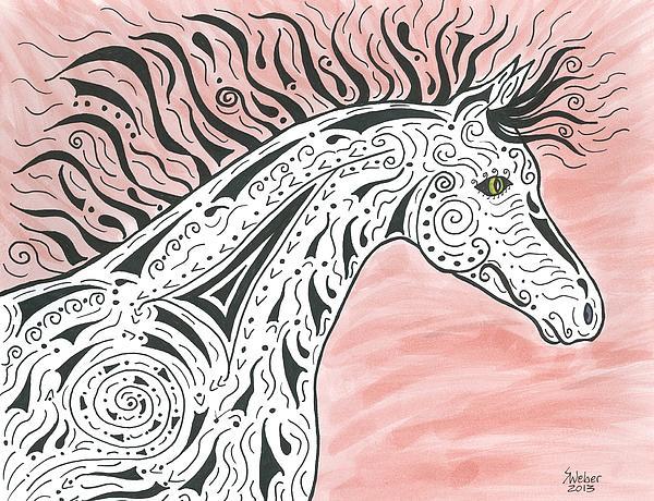 Tribal Spirit Wind Print by Susie WEBER