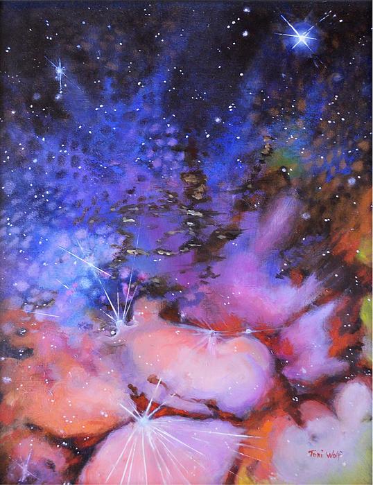 Trifid Nebula Print by Toni Wolf