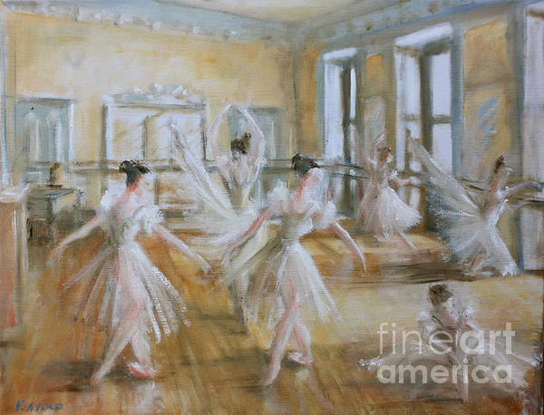 Tring Park The Ballet Room Print by Yvonne Ayoub
