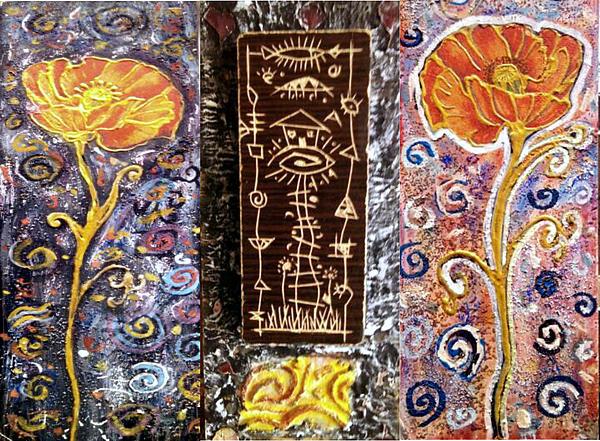 Branko Jovanovic - Triptih House In The Flowers
